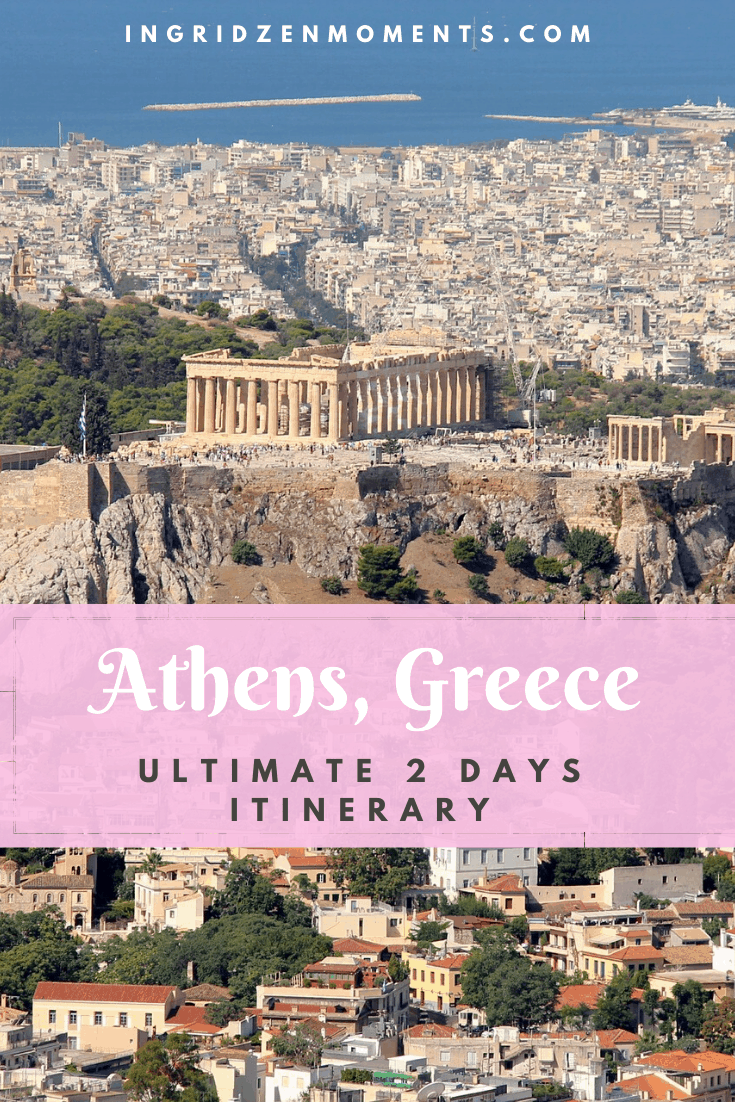 2 days Athens itinerary - from what to do in Athens, to all you need to know for your Greece Athens travel. Pretty Athens Greece streets, perfect day trips from Athens, and Athens hotels. #greece #athens #vacation #travel #europe