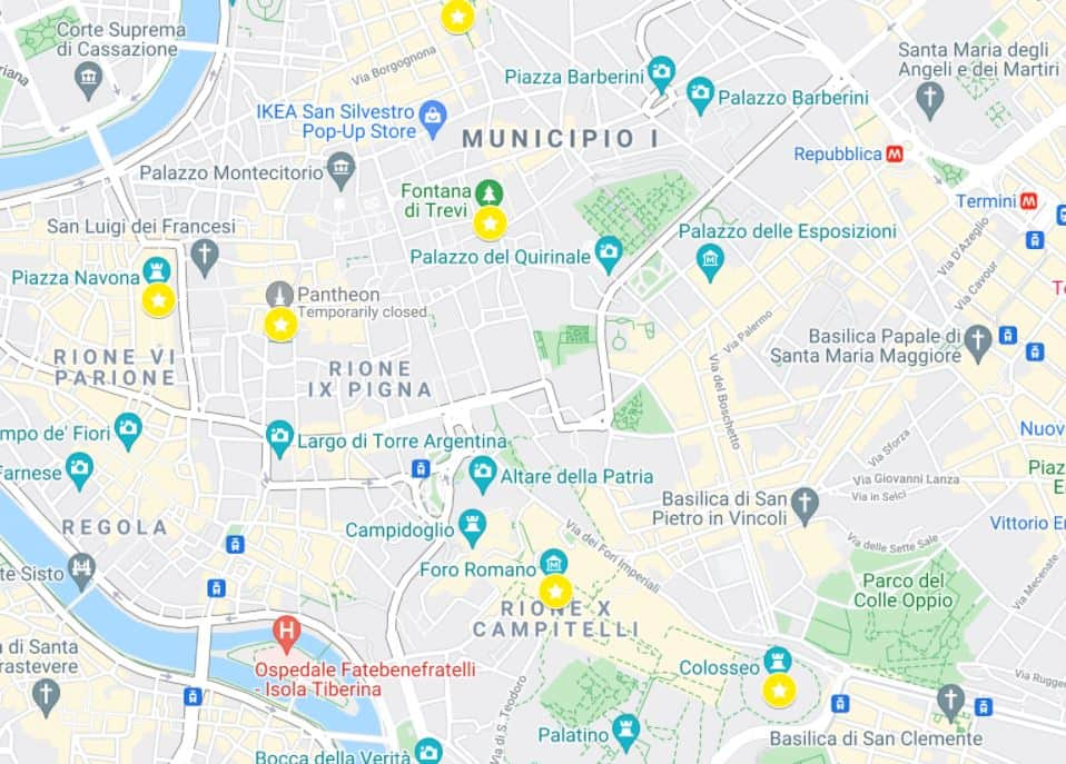 One day in Rome itinerary