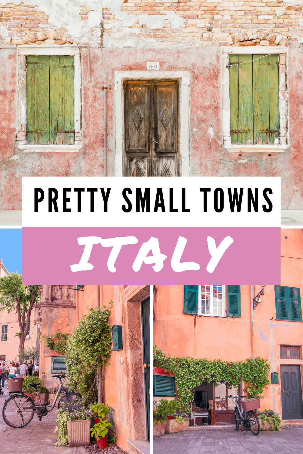 Put these beautiful places in Italy on your next travel to Italy list and enjoy an authentic Italy trip without the crowds. If Rome, Venice, or Florence are too much, choose these less known small towns in Italy for your Italy travel itinerary and live your Italy vacation to the fullest!