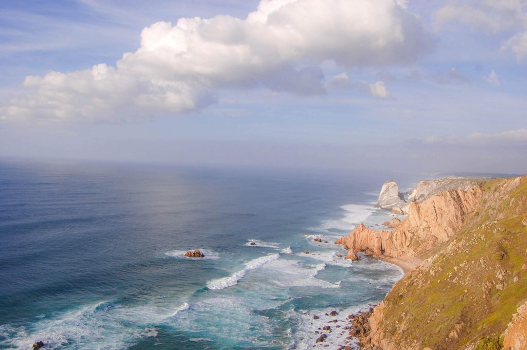 Cabo da Roca in Portugal, amazing cliff view