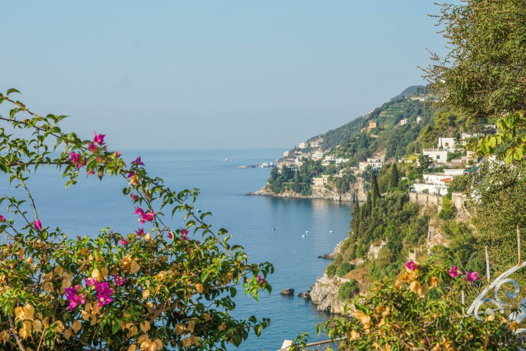 View over the Amalfi Coast and our stay during the most perfect Amalfi Coast itinerary