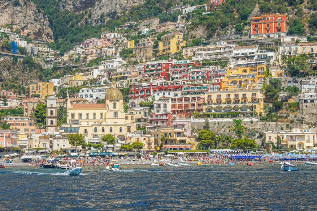 Positano as seen from the boat