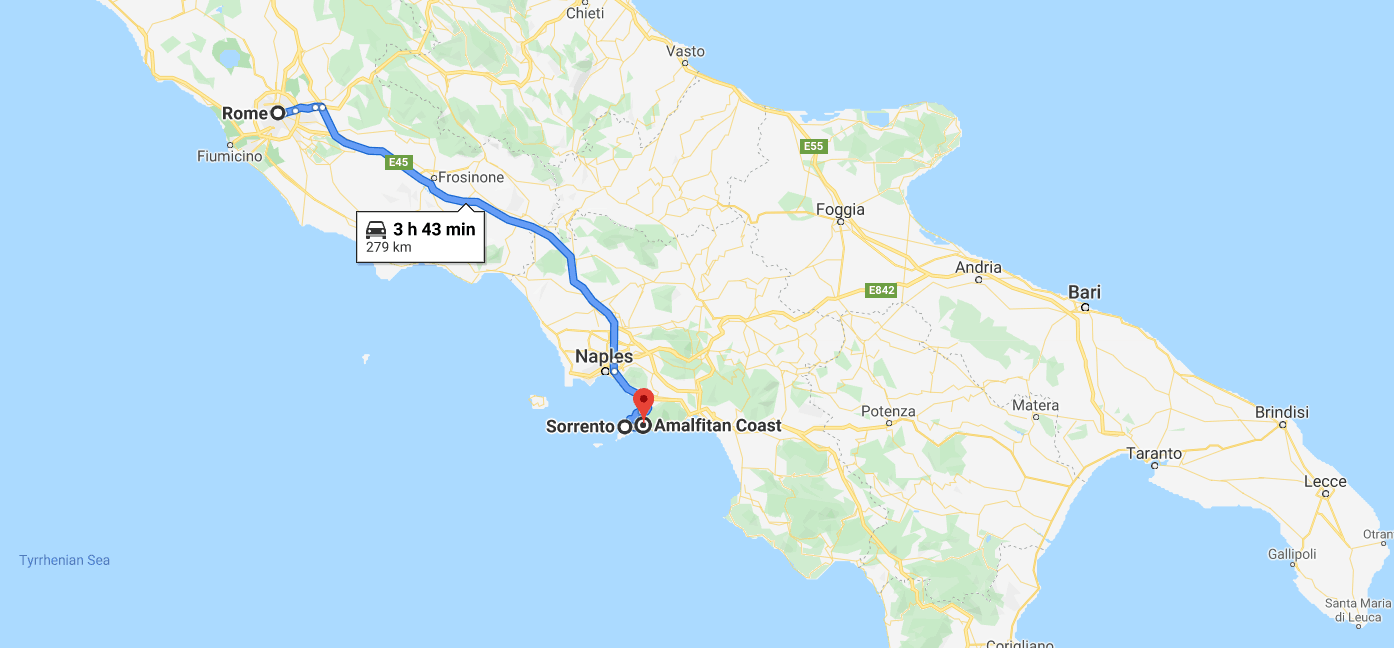 southern italy itinerary 7 days