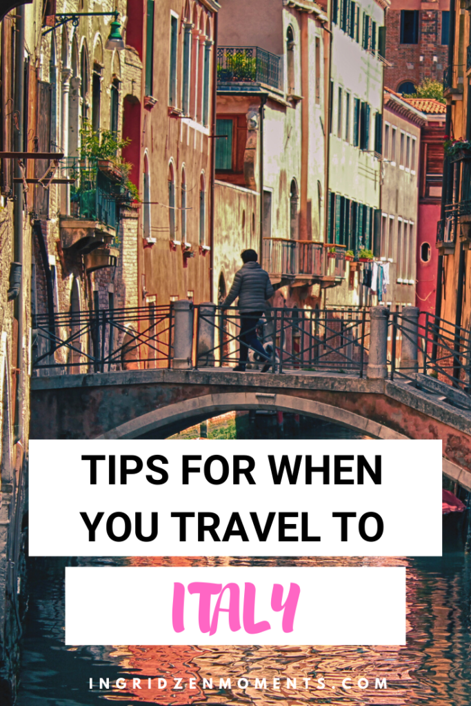 These are all the Italy tips you must know for your first trip to Italy. No matter which is your Italy travel destination, read these travel Italy tips when planning a trip to Italy. #italy #travel #italyvacation #italytips