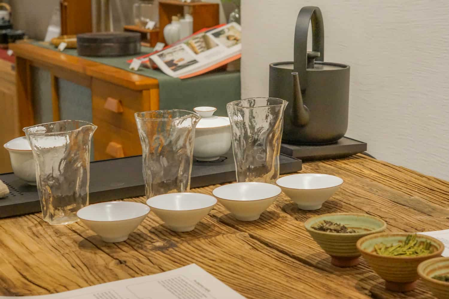 Hong kong tea tasting