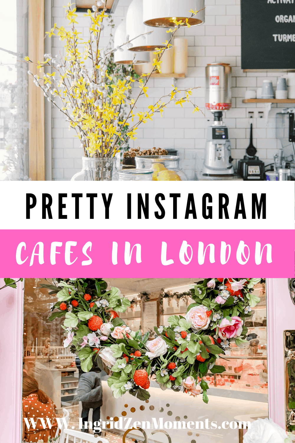 Prettiest cafes in London with the most pink vibes and flower-filled cafes in London. See this list of photo paradise places in London for your next London vacation, and head over to take the most beautiful London photography some of the most famous instagram spots in London. | Cafes in London | prettiest cafes in London | #travel #pretty #pinkplace #londontravel #travel
