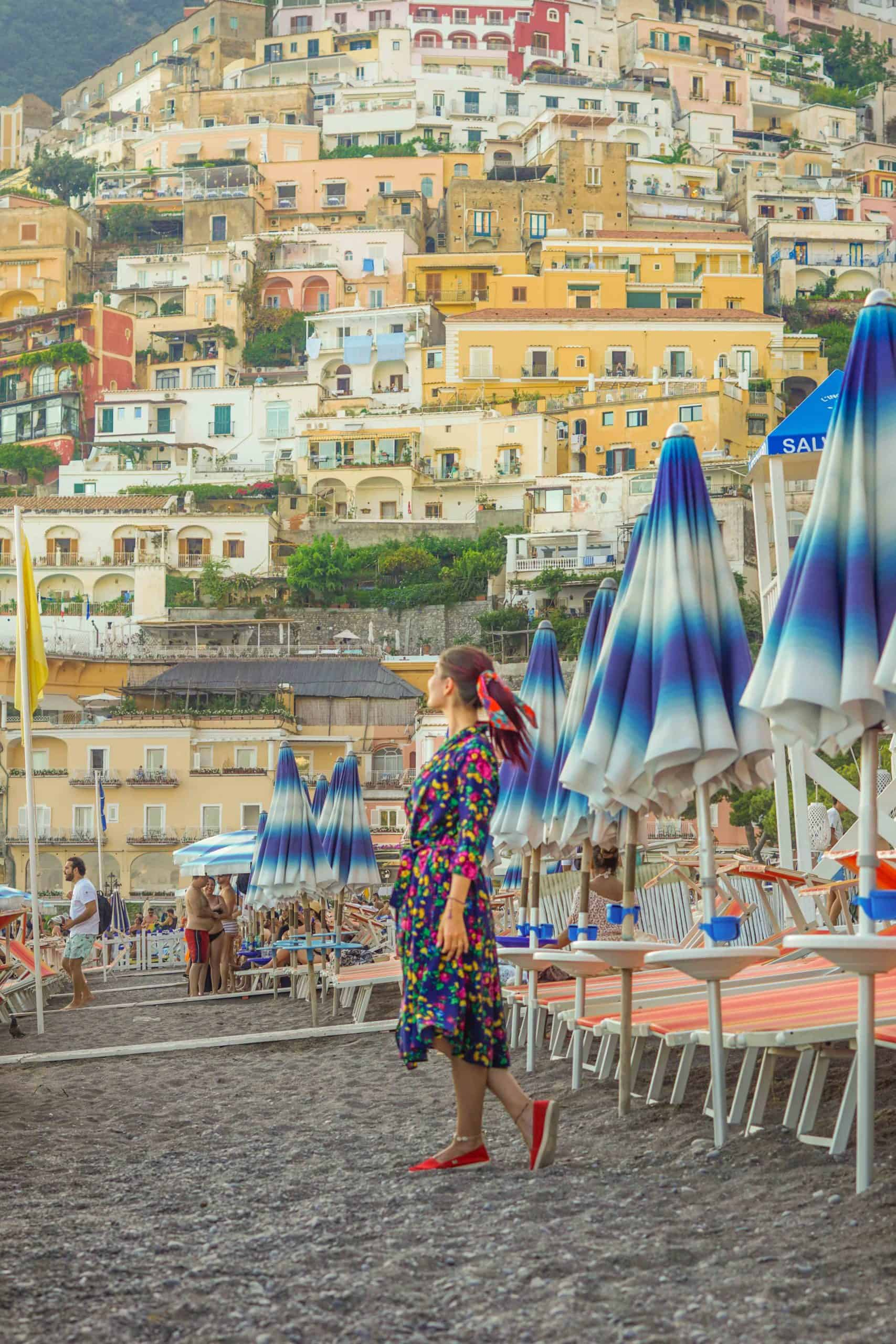 Most Instagrammable places in Positano, Italy - Spiaggia Grande