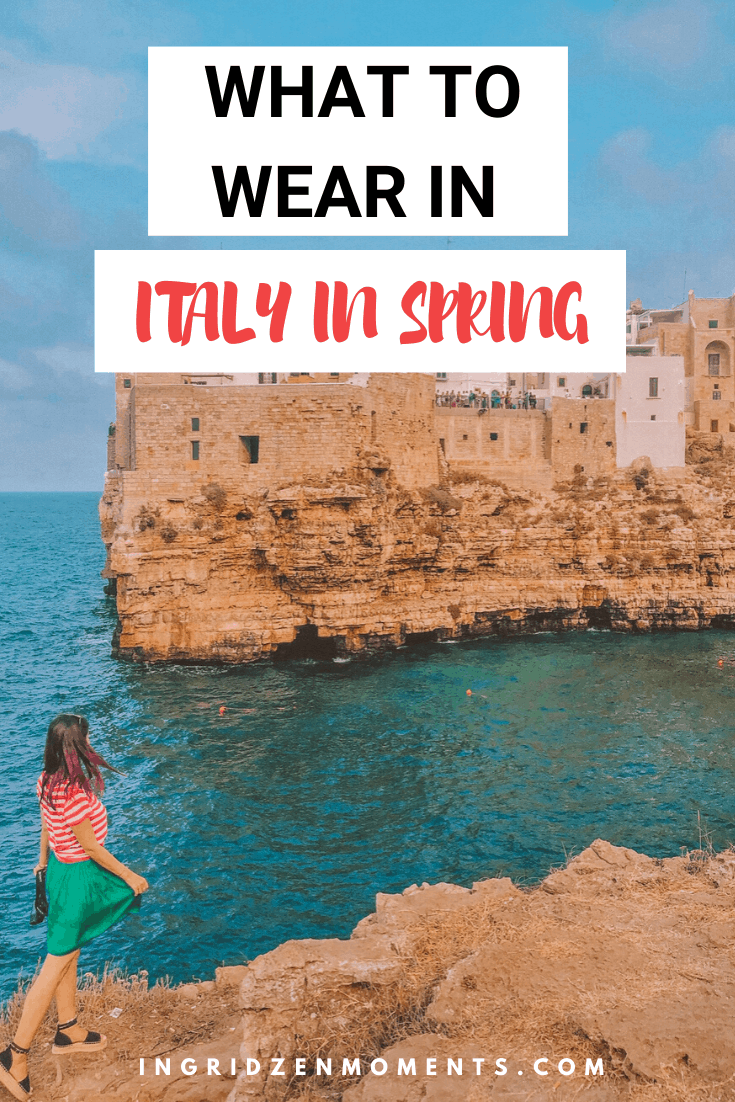 Outfits for Italy in Spring and what to wear in Italy in Spring. Perfectly comfortable cute outfits for traveling around some of the most beautiful places in Italy. Get your fashion for travel inspiration and shop for the best travel shoes to bring to your Italy trip.