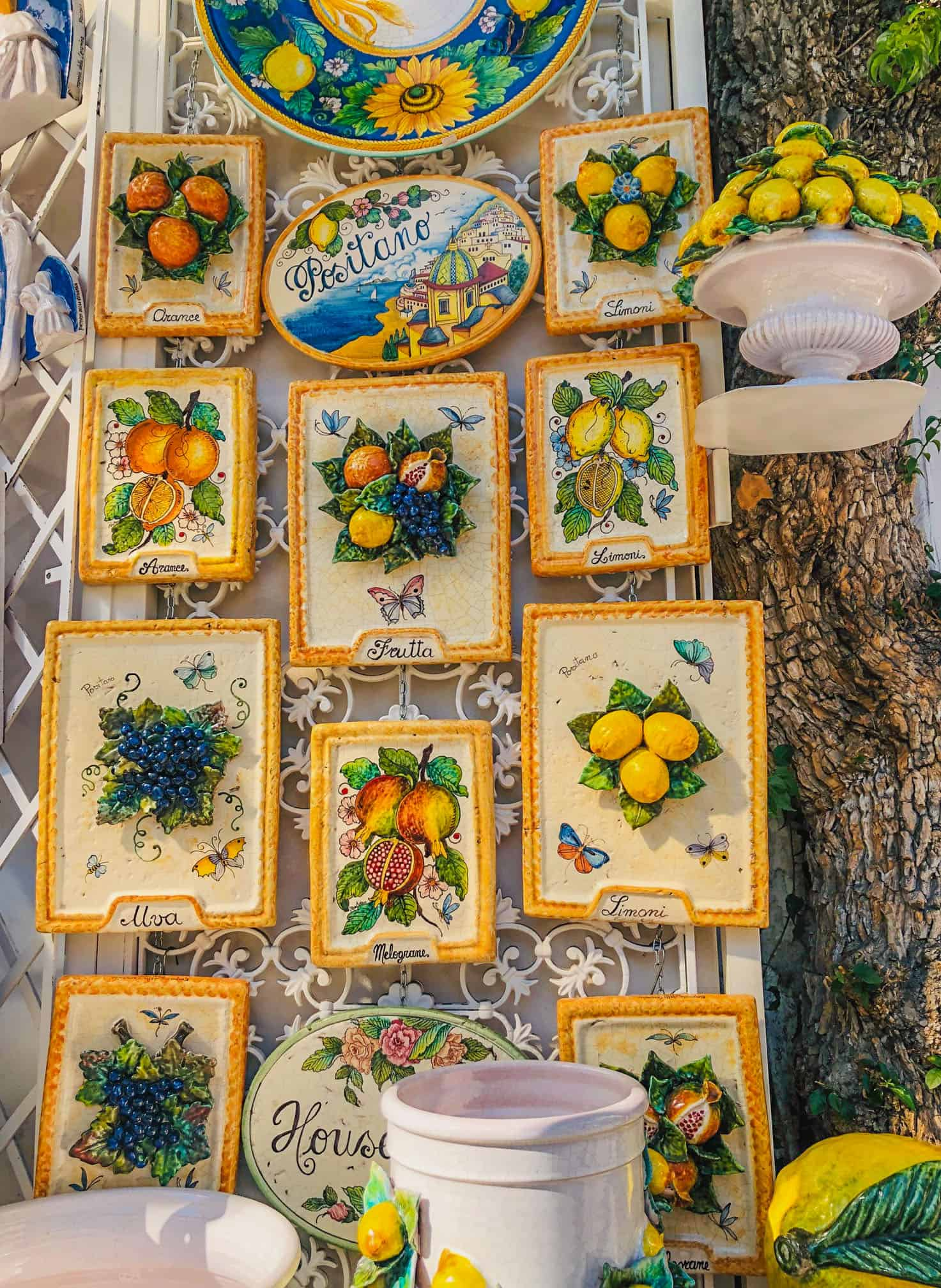 colorful souvenirs from Positano