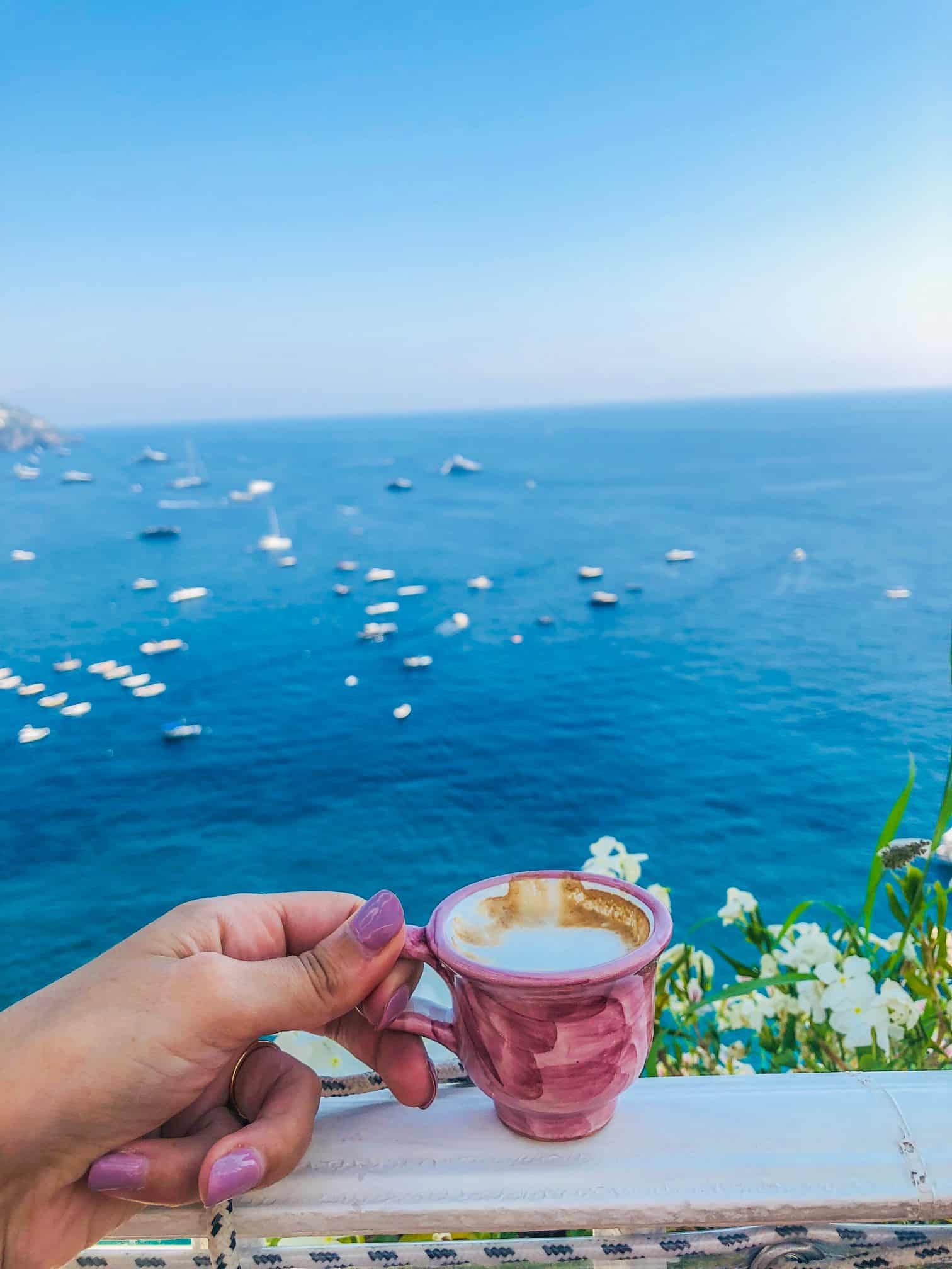Italian coffee in Positano