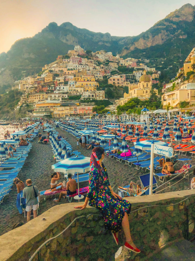 Stairs in Positano and Instagram perfect spots