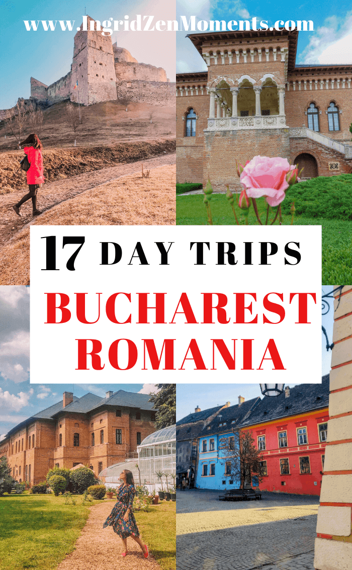 Eastern Europe travel: ultimate list of day trips from Bucharest Romania. Travel from Bucharest to Transylvania, see some of the best castles in Romania, some of the best places to visit in Romania. FRom Brasov, Sibiu, Sighisoara, and beyond) to the Black Sea coast of Constanta. Romania travel tips, Romania mountains, and Romanian food. #romania #travel #easterneurope
