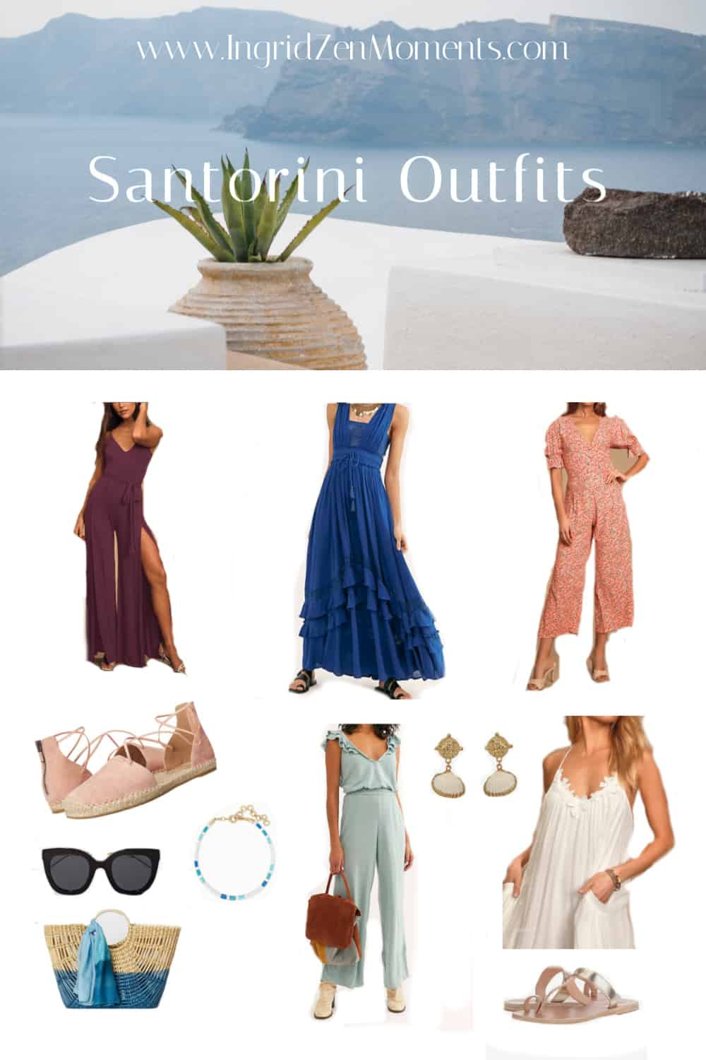 Outfits for Santorini in spring