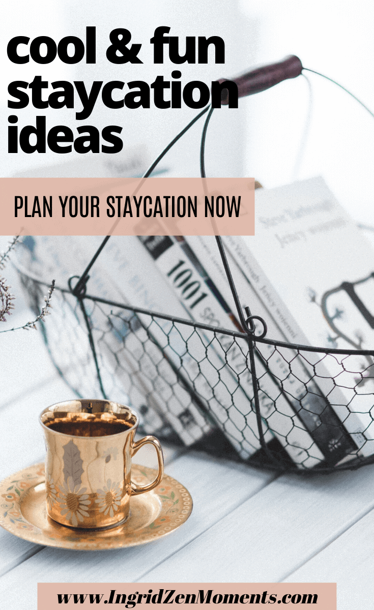 Lots of cool and fun staycation ideas for couples and not only. Things to do at home when you cannot travel, that will take you around the world and have fun. Affordable things to do at home or in your town for when you want to save money for your next travel. #staycation #saveontravel #travel