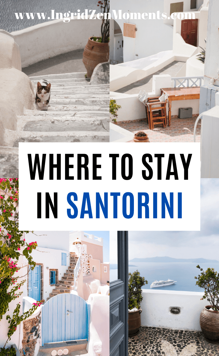 Wandering where to stay in Santorini Greece? Here is the ultimate Santorini travel guide of the best places to stay in Santorini, the pros and cons for each Santorini village, what village you should choose in Santorini based on your travel style. No matter if you are your Santorini honeymoon or looking for luxury Santorini vacation ideas, here is where you'll find your answers. #santorini #greece #accommodation #travel #travelguide