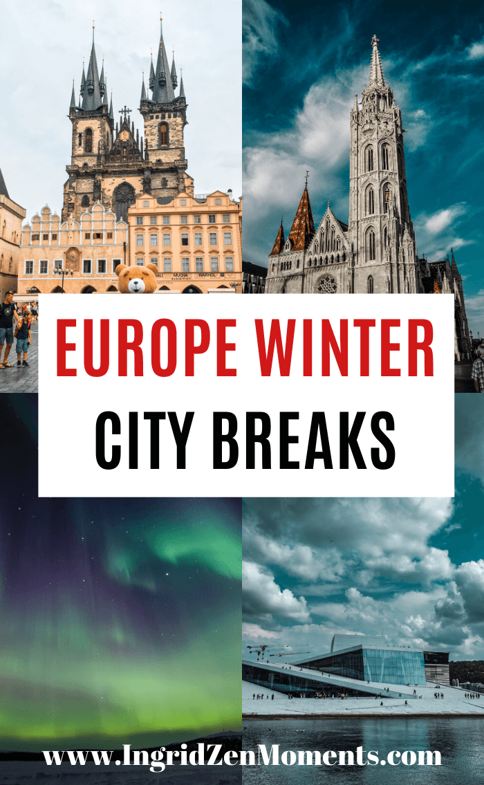 Europe winter travel city breaks | Europe in winter | Best Europe winter destinations, activities, and cities to visit. Places To Visit In Europe During The Winter | Europe Destinations | Winter Travel Ideas