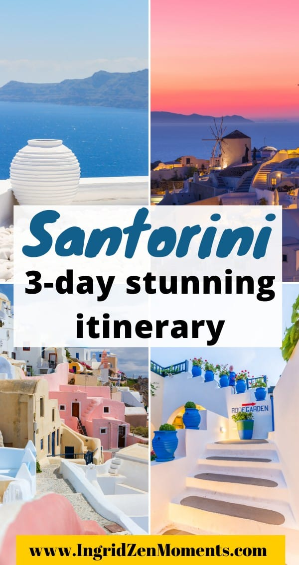 3 days in Santorini Greece itinerary