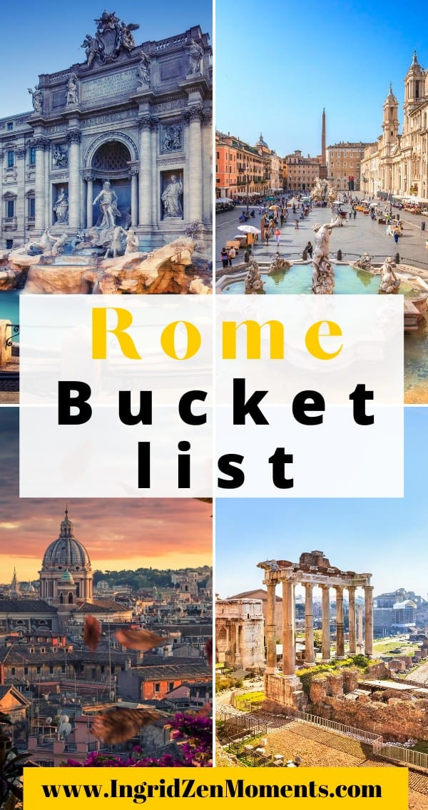 Bucket list experiences for Rome, Italy