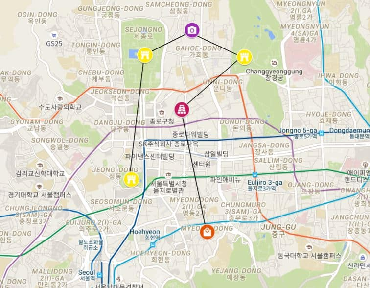 Seoul in one day itinerary - option 1
