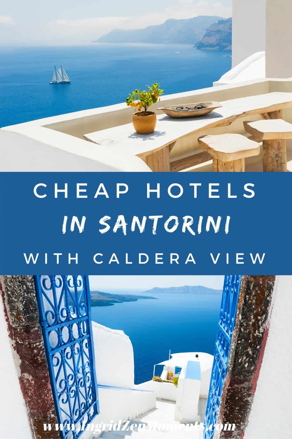 heap hotels in Santorini with caldera view