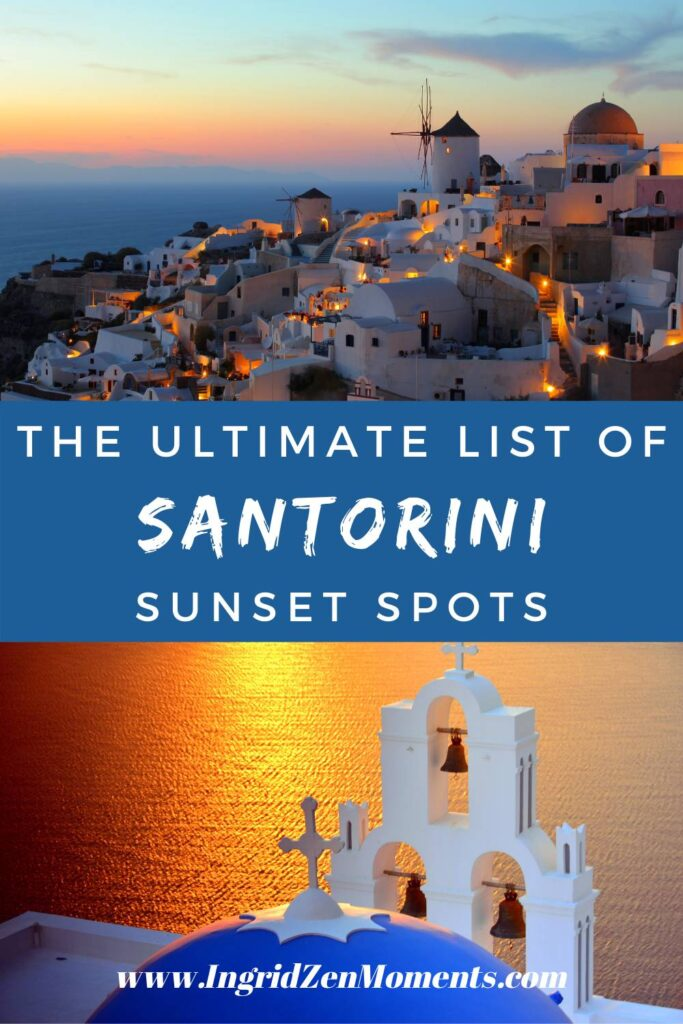 Where to see the sunset in santorini