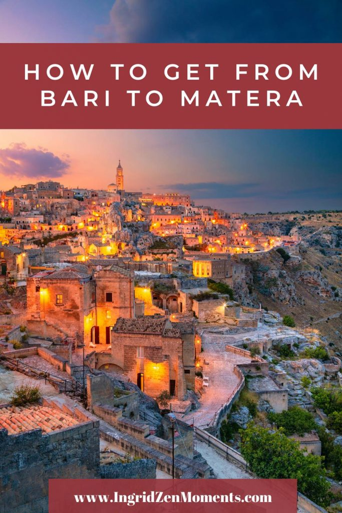 How to get from Bari to Matera