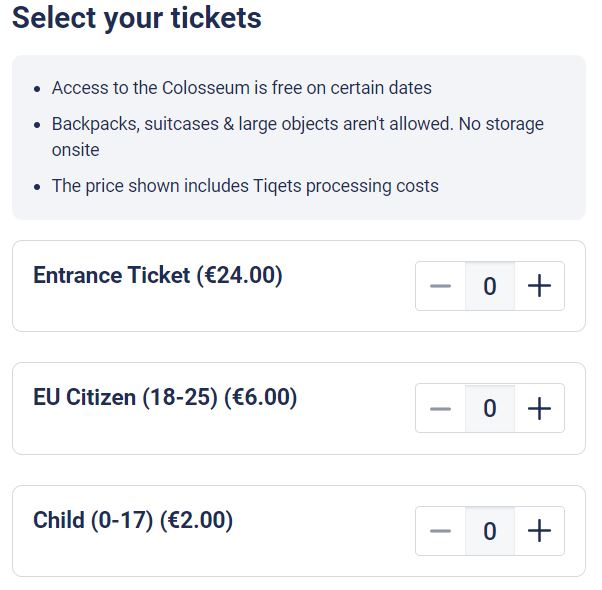 Booking your ticket for visiting the Colosseum_1